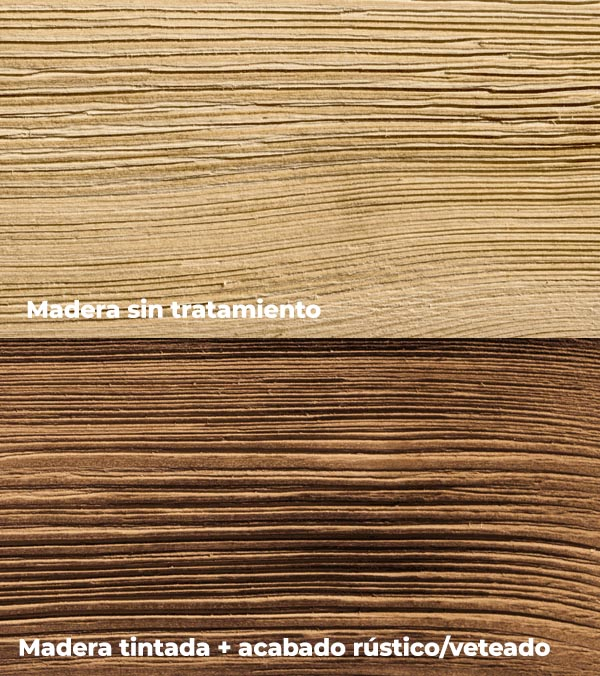 madera antes y despues del tratamiento